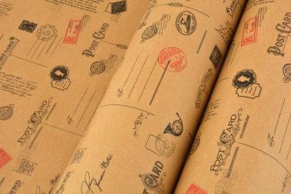 Wrapping Paper Kraft PostCard