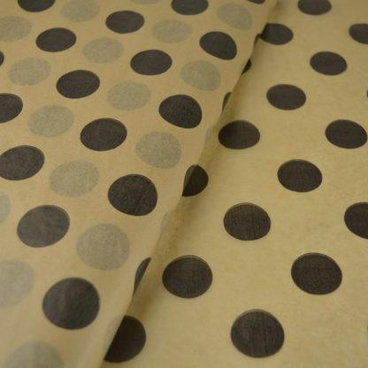 χαρτί-αφής-χρώματος-κράφτ-μαύρα-πουά