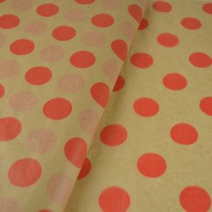 Χαρτί αφής χρώμα κράφτ με κόκκινα μεγάλα πουά