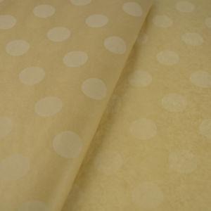 Χαρτί αφής χρώμα κραφτ με λευκά μεγάλα πουά