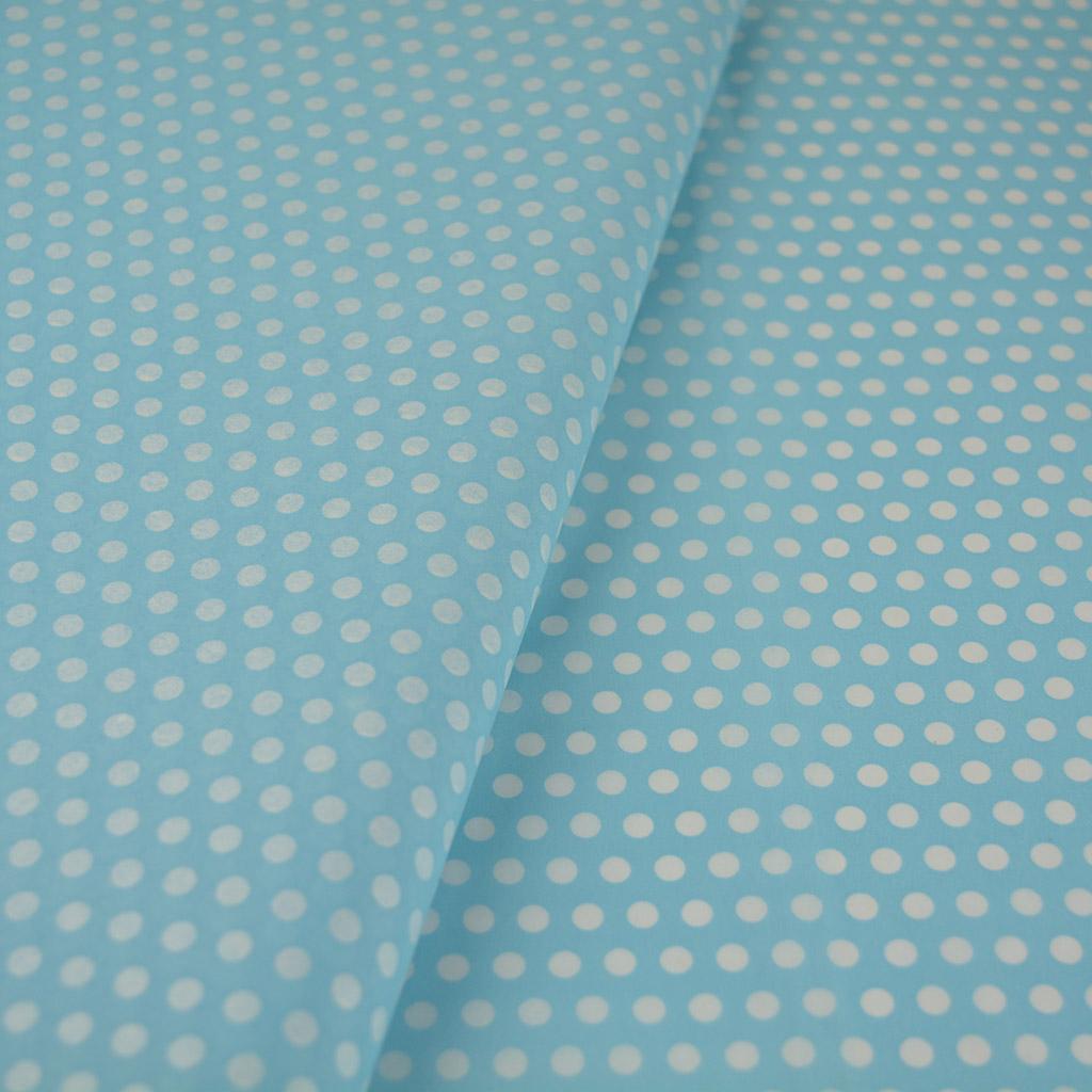 Γαλάζιο χαρτί αφής με άσπρα πουά