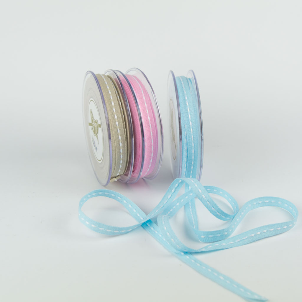 Ribbon 10mm middle edge cotton