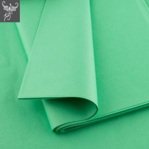 Plain tissue paper mint green
