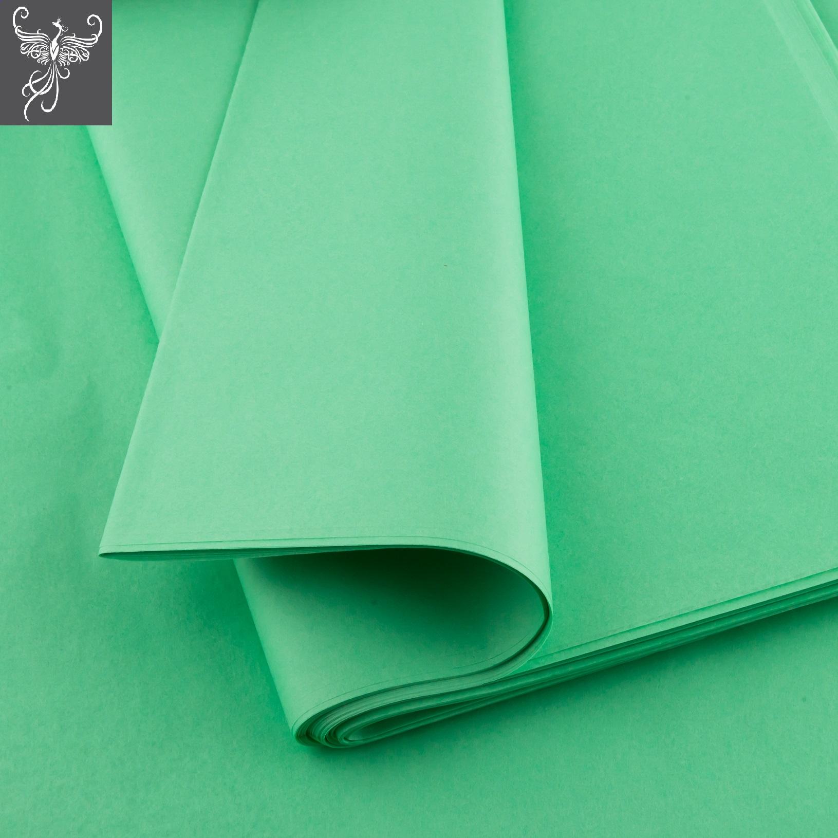 Plain tissue paper mint green