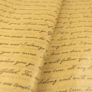 charti afis kraft mavra grammata tissue paper love letters