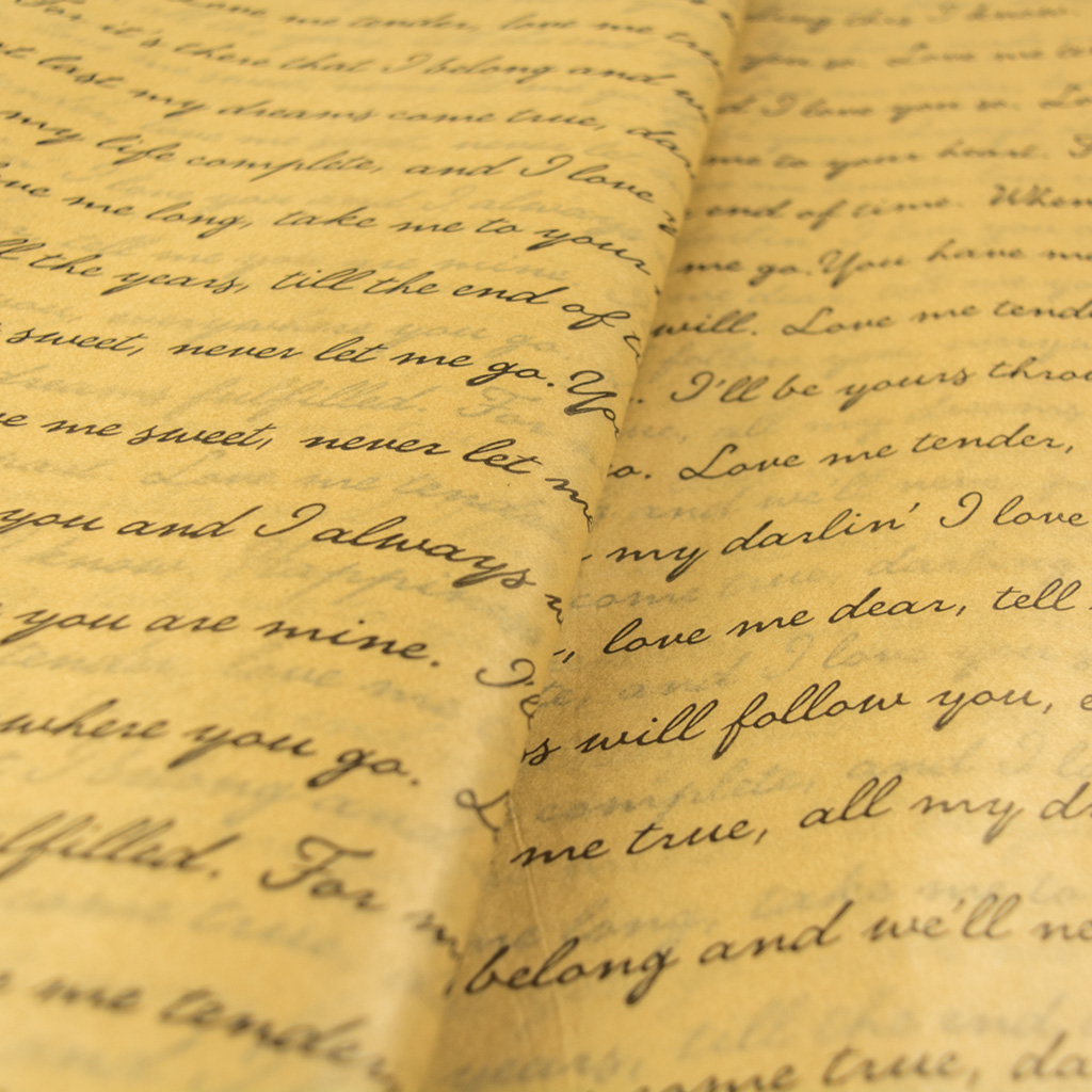 Χαρτί αφής κραφτ - Ερωτικό γράμμα
