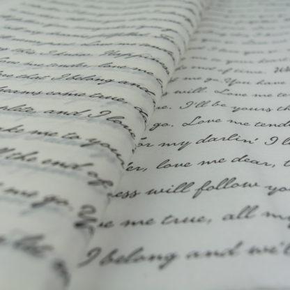 charti afis lefko grammata mavra tissue-paper love letters