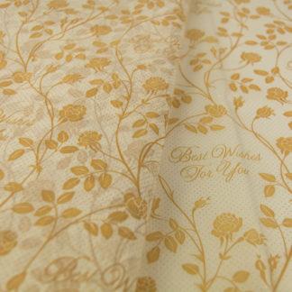 Χαρτί αφής λευκό-χρυσό Best Wishes