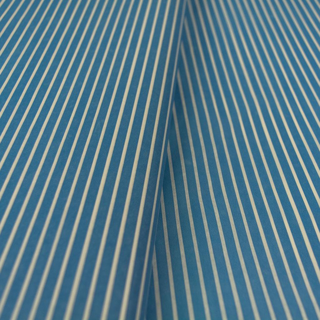 Χαρτί αφής μπλε με λευκές ρίγες