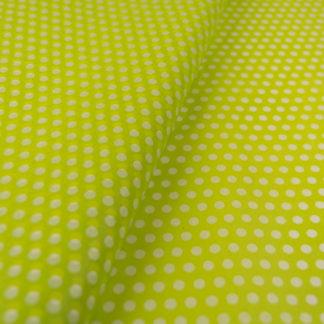 tissue paper green white small dots