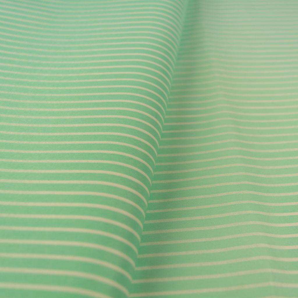 tissue paper mint white stripes