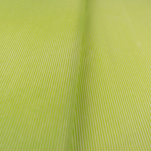 tissue paper green white thin stripes