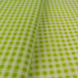 tissue paper white green plaid