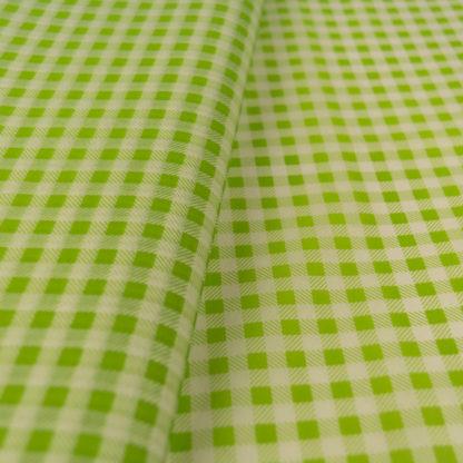 tissue paper white green plaid