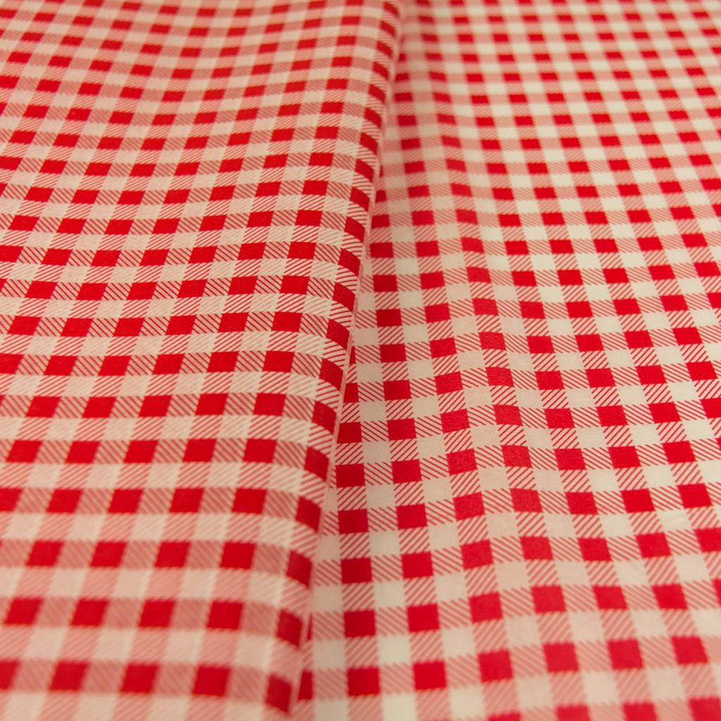 Χαρτί αφής ριγέ κόκκινο - λευκό