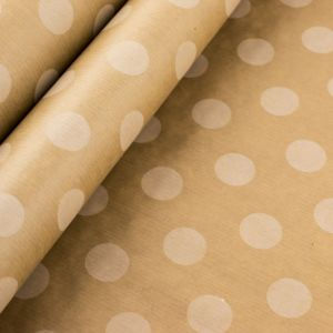 Kraft Paper White Dots