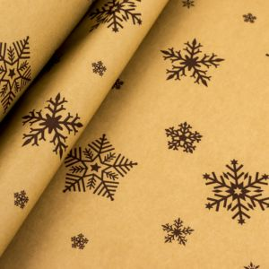 Kraft paper snowflakes brown