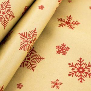 Kraft paper snowflakes red