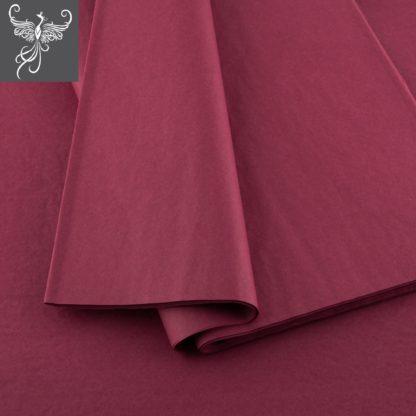 Plain tissue paper bordeaux