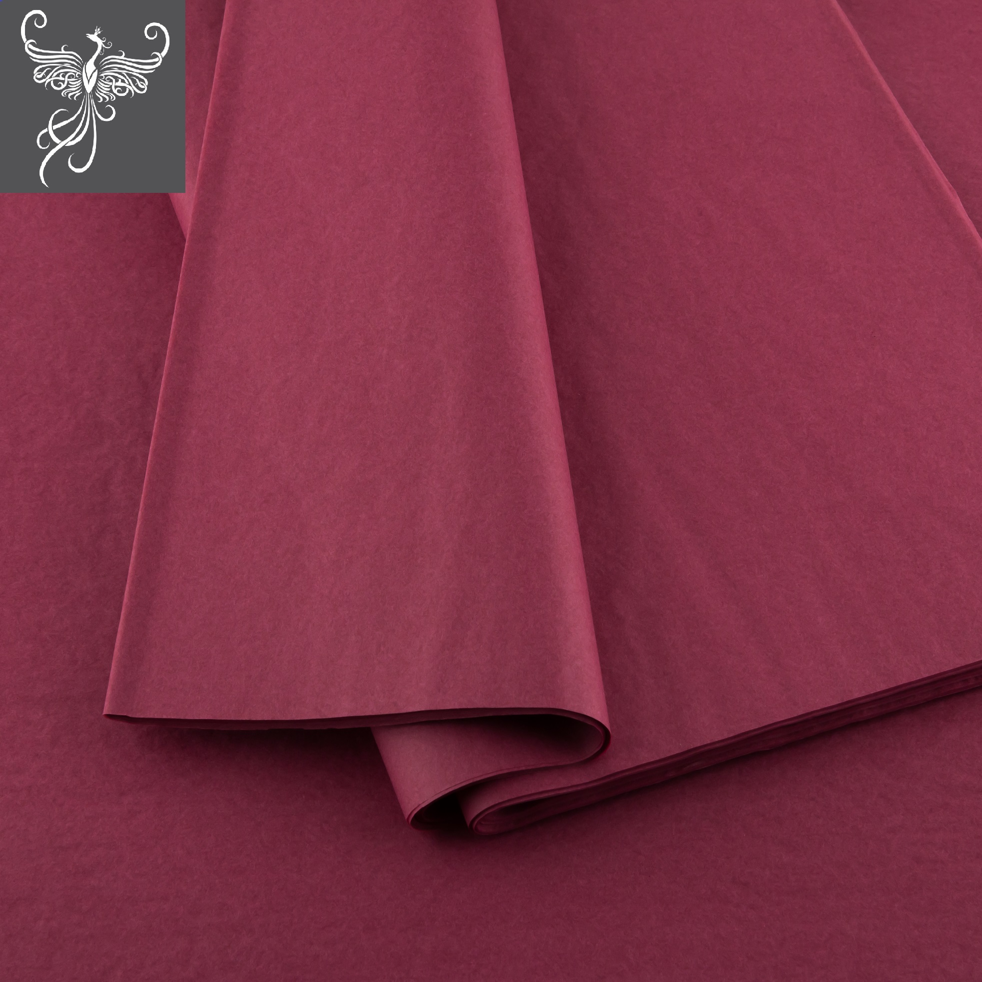 Plain tissue paper bordeaux