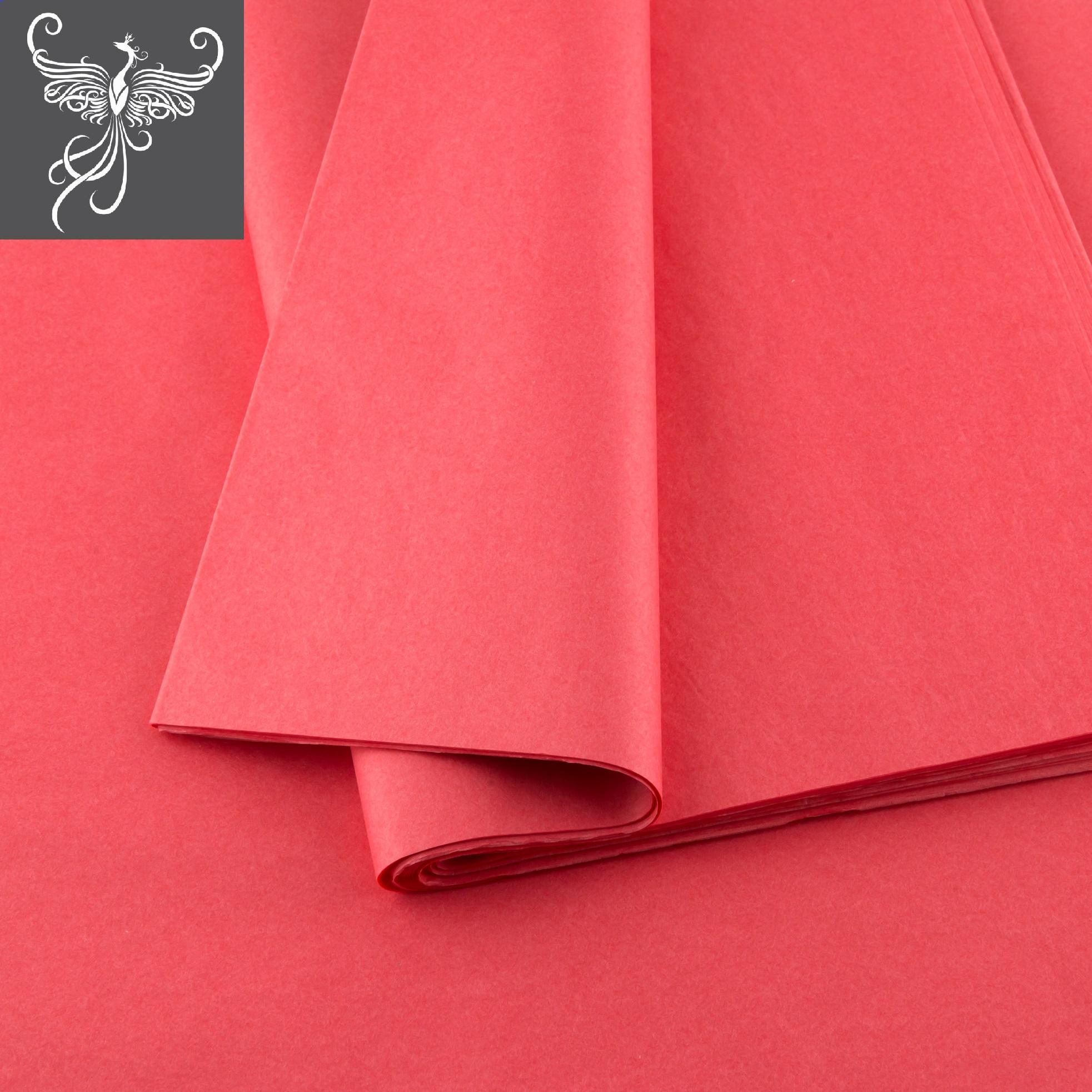 Plain tissue paper coral