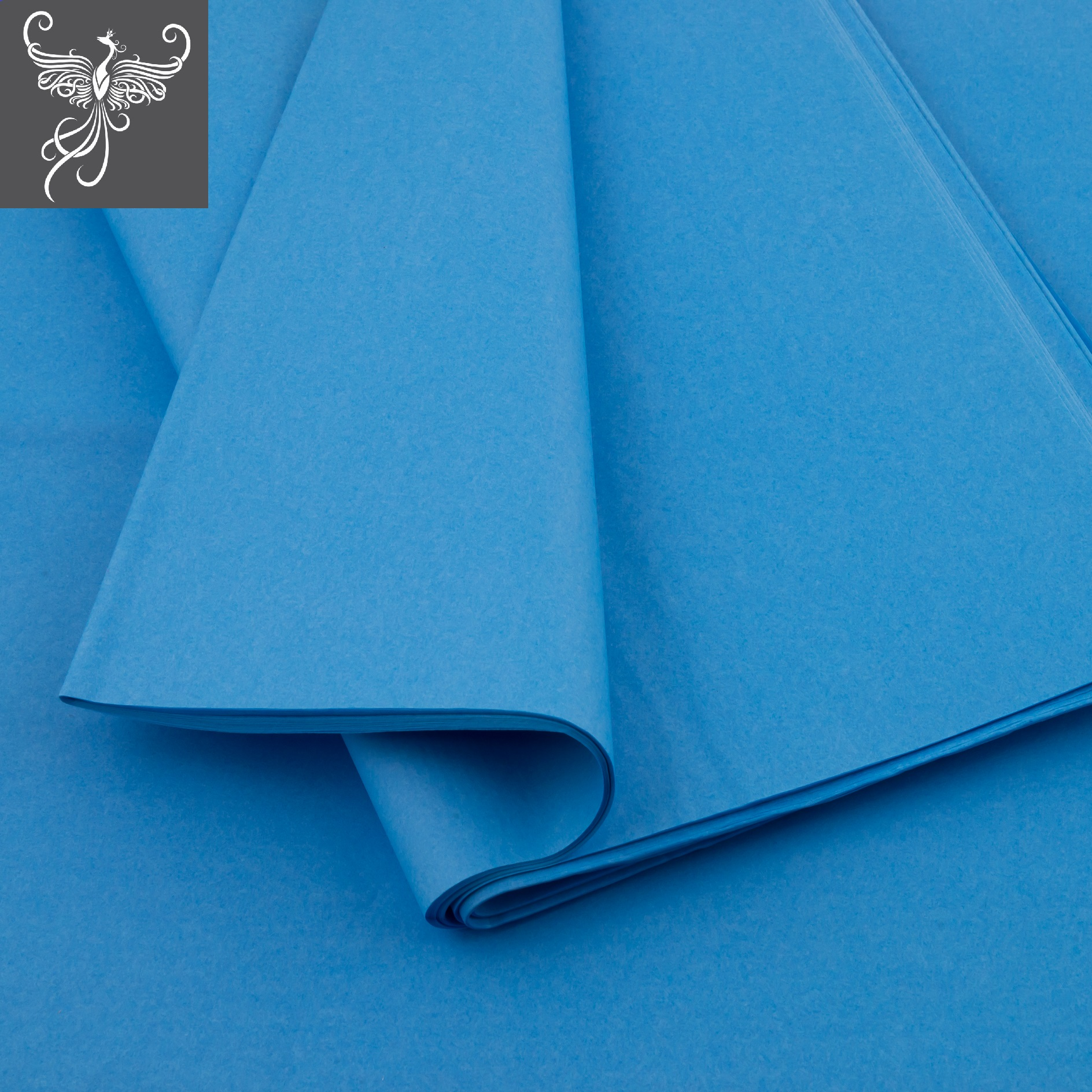 Plain tissue paper light blue