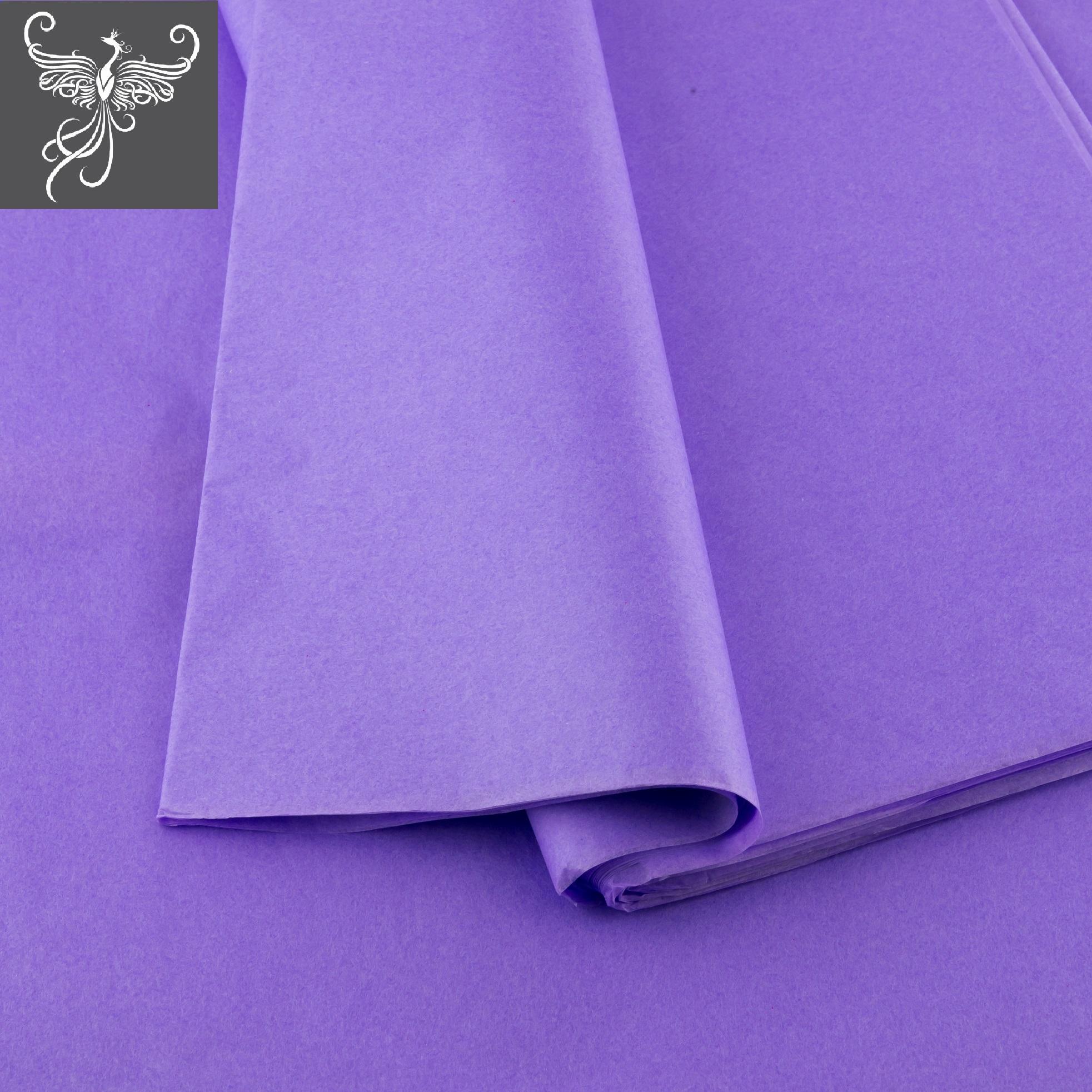 Plain tissue paper mauve