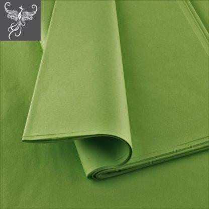 Plain tissue paper olive green