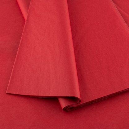 Plain tissue paper red