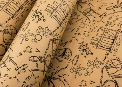Science Lab Kraft Wrapping Paper